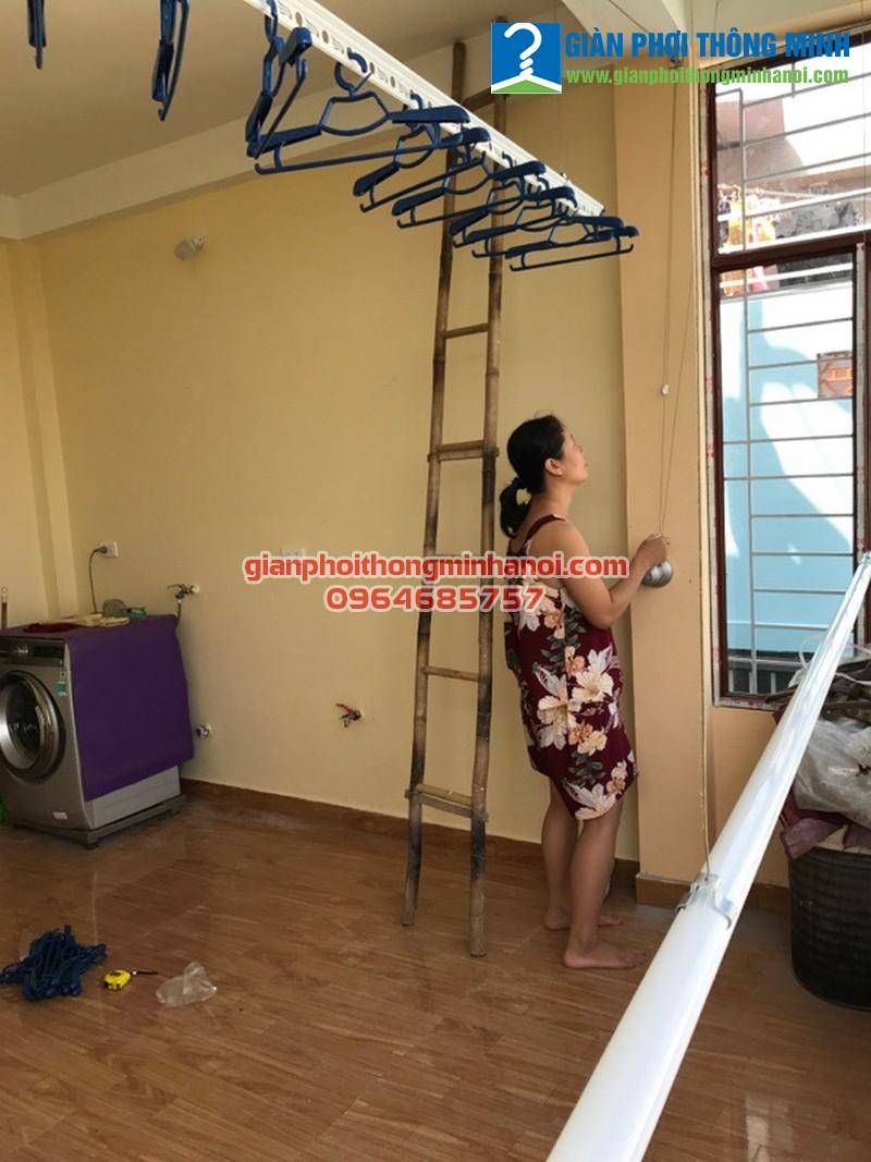 Lắp giàn phơi Hòa Phát Star cho nhà cô Bắc ngõ 37 Đại Đồng