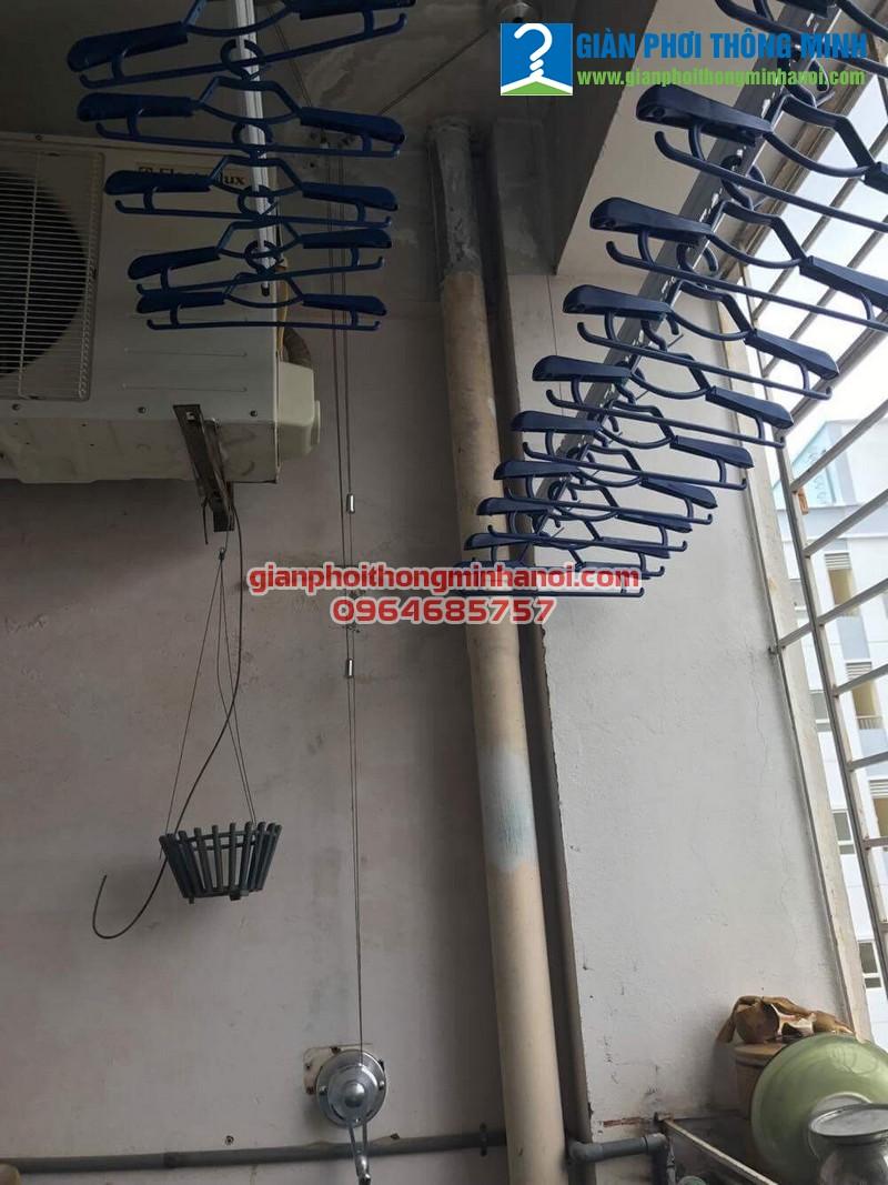 Lắp giàn phơi Hòa Phát Air GP701 cho nhà chị Nga P902, Chung cư 103 Đốc Ngữ, Ba Đình