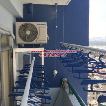 Lắp giàn phơi Hòa Phát Air cho nhà anh Toàn, P1411, nhà A5 Nguyễn Cảnh Dị
