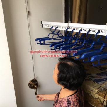 Lắp giàn phơi Hòa Phát cho nhà cô Hạnh, P605, chung cư Tân Hoàng Minh, Ngõ 30 Hoàng Cầu