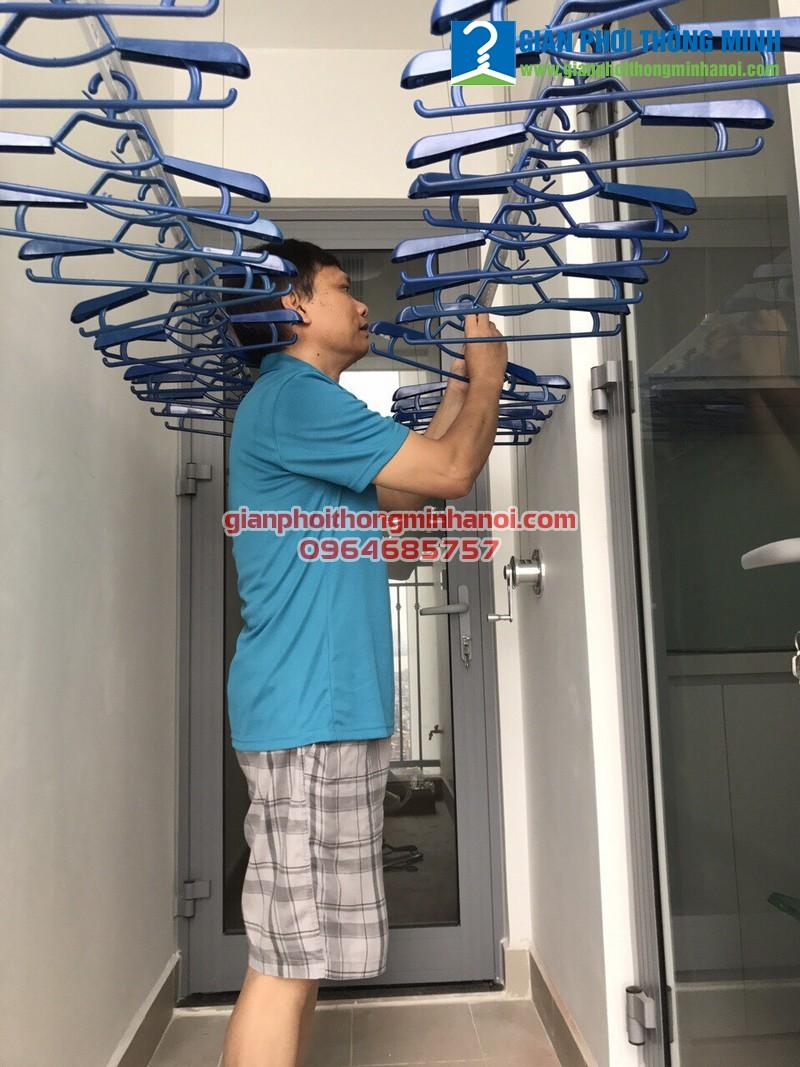 Lắp giàn phơi Hòa Phát Air GP701 cho nhà anh Chiến P3012, Park 10, Park Hill Time City