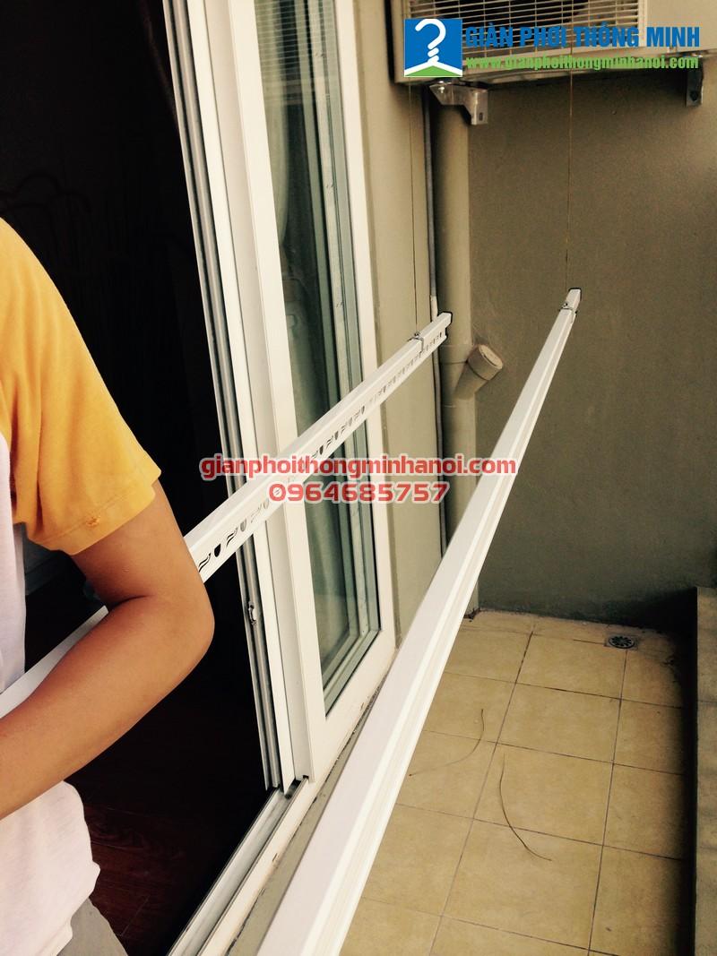Lắp giàn phơi Hòa Phát Star cho nhà chị Nhàn P1401, toà HUD 3 Tô Hiệu, Hà Đông