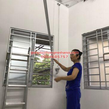 Lắp giàn phơi đồ cho nhà cô Lan, N5-5 khu đô thị Sống Hoàng, Lĩnh Nam