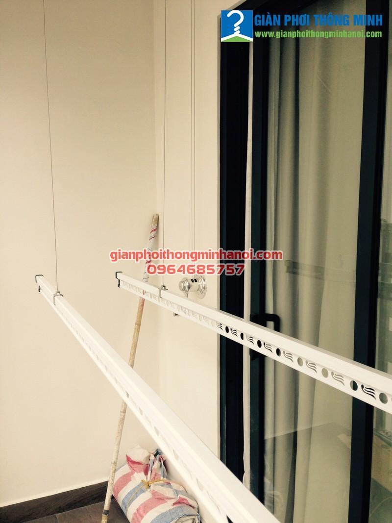 Lắp giàn phơi thông minh nhập khẩu cho nhà chị Thu, số 07, T24, tòa A chung cư Imperia