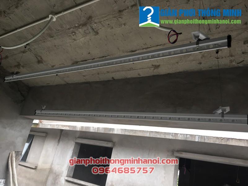 Lắp giàn phơi nhập khẩu cho nhà anh Đức P086, Park River 2A, Ecopark Hà Nội