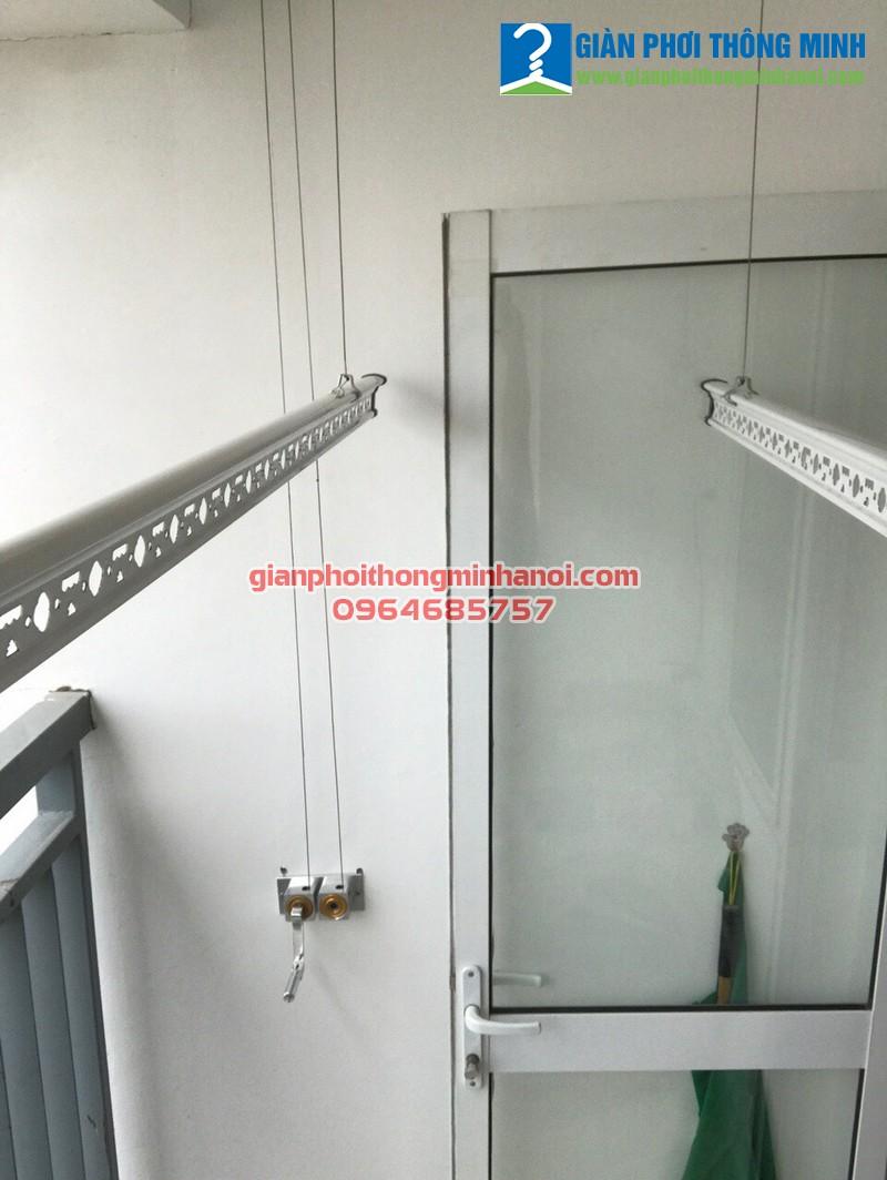 Hoàn tất lắp đặt giàn phơi thông minh cho nhà anh Điềm, P1903, chung cư 30 Phạm Văn Đồng