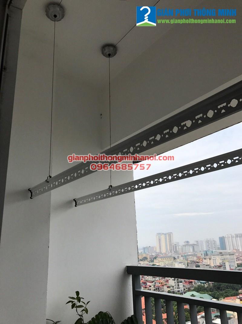 Hoàn tất lắp đặt giàn phơi thông minh Duy Lợi cho nhà anh Điềm, P1903, chung cư 30 Phạm Văn Đồng