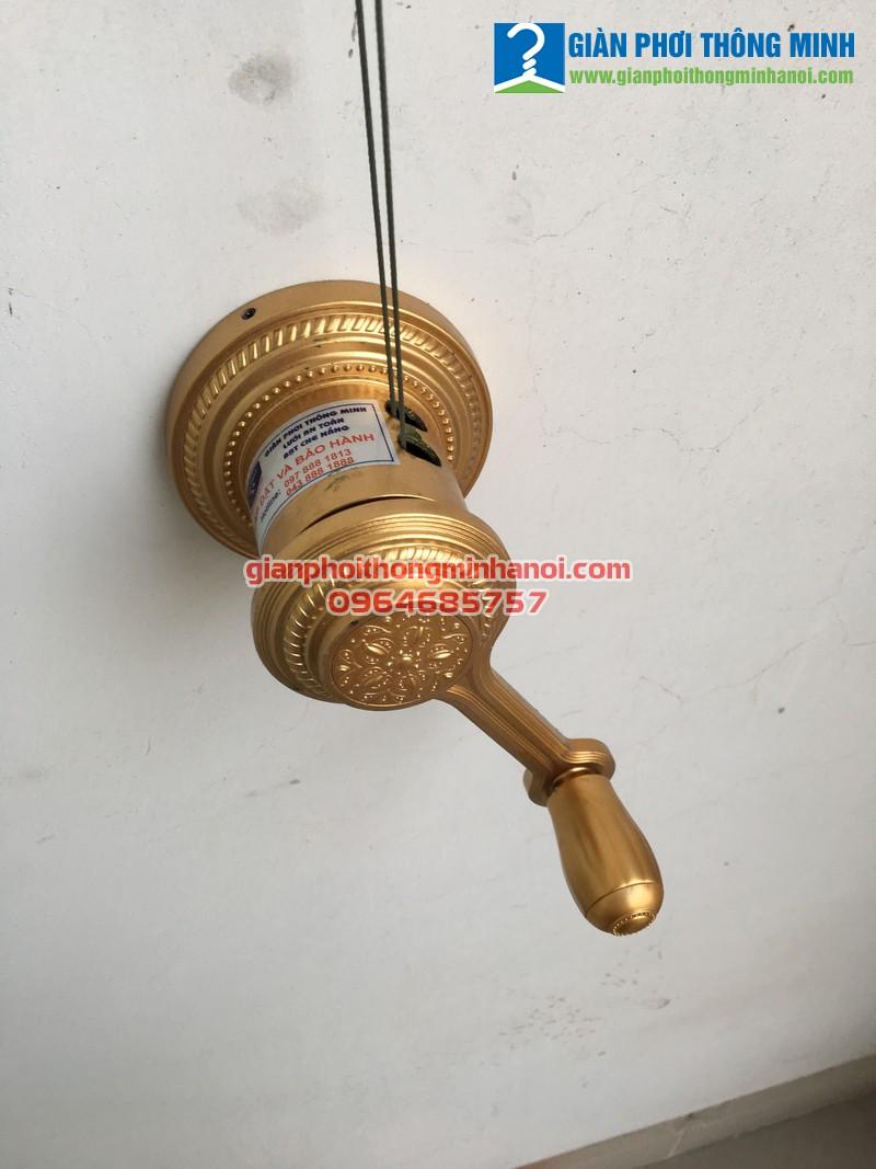 Lắp giàn phơi và lưới an toàn cho nhà anh Phong, P15, T19, R4A Royal City