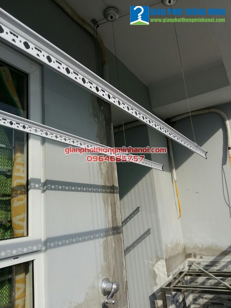 Lắp giàn phơi Hòa Phát Star cho nhà anh Đại P301 A14A1 Nam Trung Yên