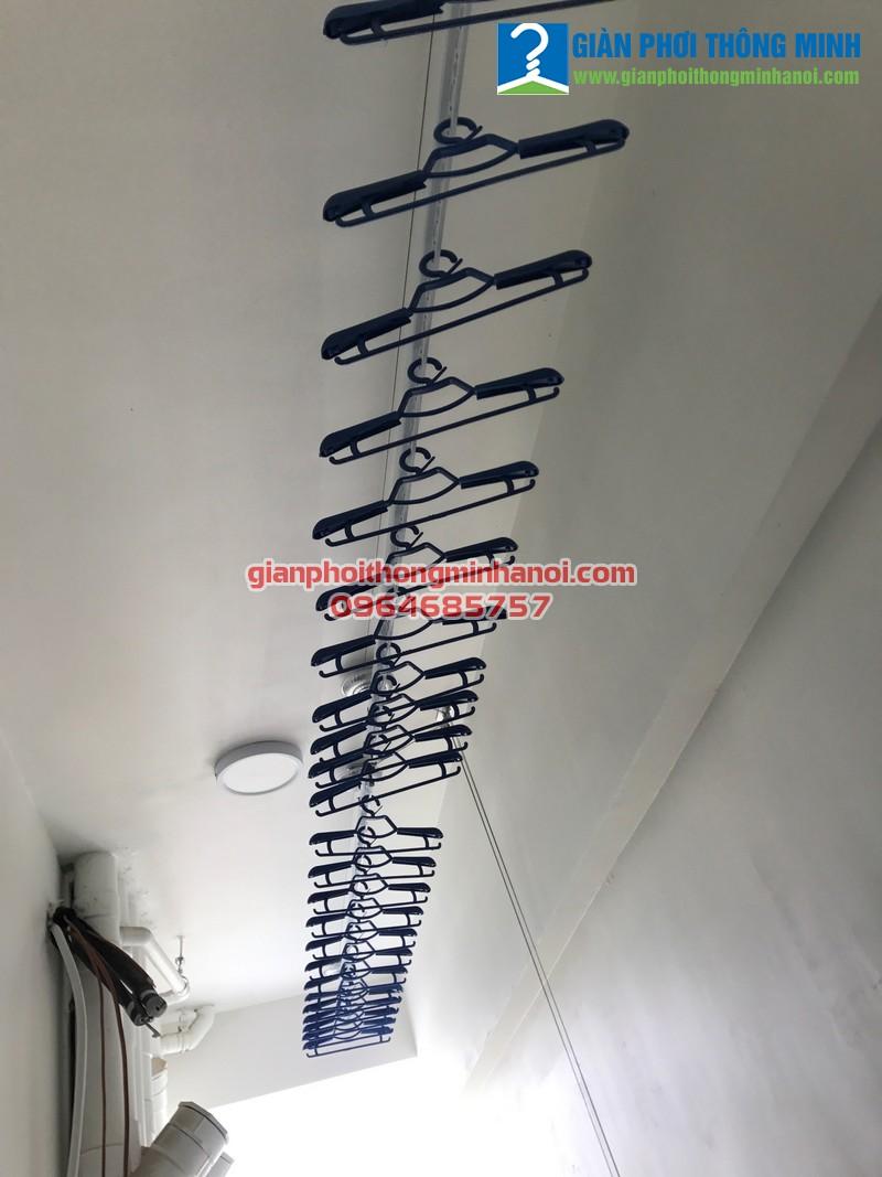 Lắp giàn phơi Hòa Phát GP990 cho nhà chị Hải, P1202, Park 09, Park Hill Time City