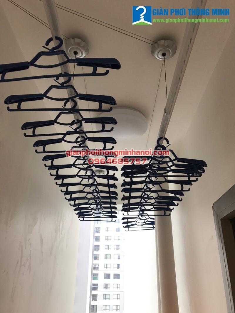 Lắp giàn phơi quần áo cho nhà chị Thu P605 Ecolife Tây Hồ