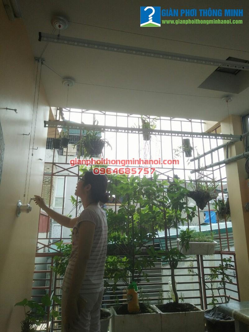 Lắp giàn phơi thông minh nhập khẩu cho nhà chị Phượng, 34A, ngõ 36 Lê Thanh Nghị