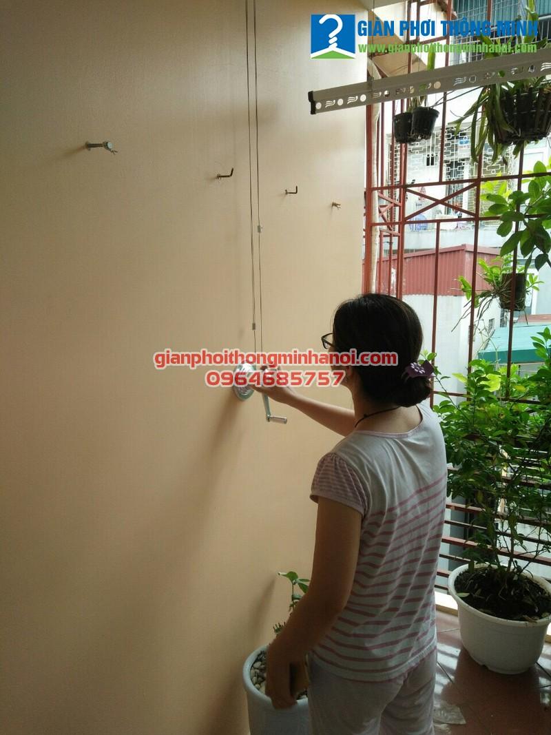 Lắp giàn phơi nhập khẩu cho nhà chị Phượng, 34A, ngõ 36 Lê Thanh Nghị