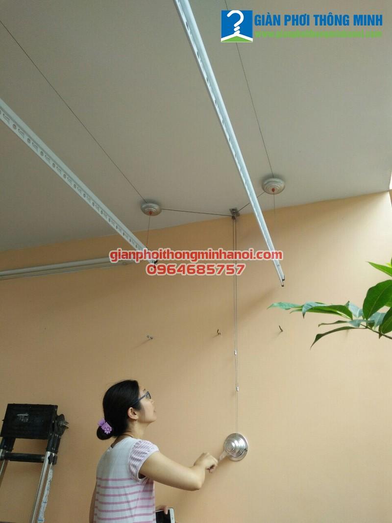 Lắp giàn phơi thông minh cho nhà chị Phượng, 34A, ngõ 36 Lê Thanh Nghị