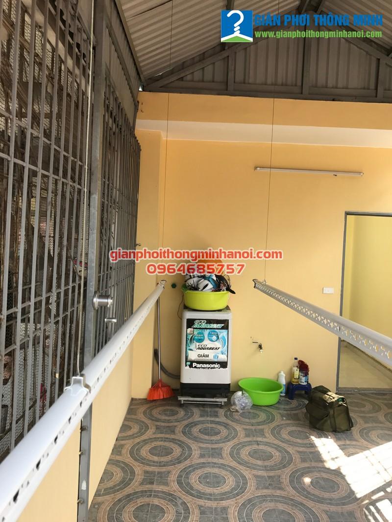 Lắp giàn phơi thông minh khu vực mái tôn cho nhà chị Thảo tại Xuân Tảo, Bắc Từ Liêm