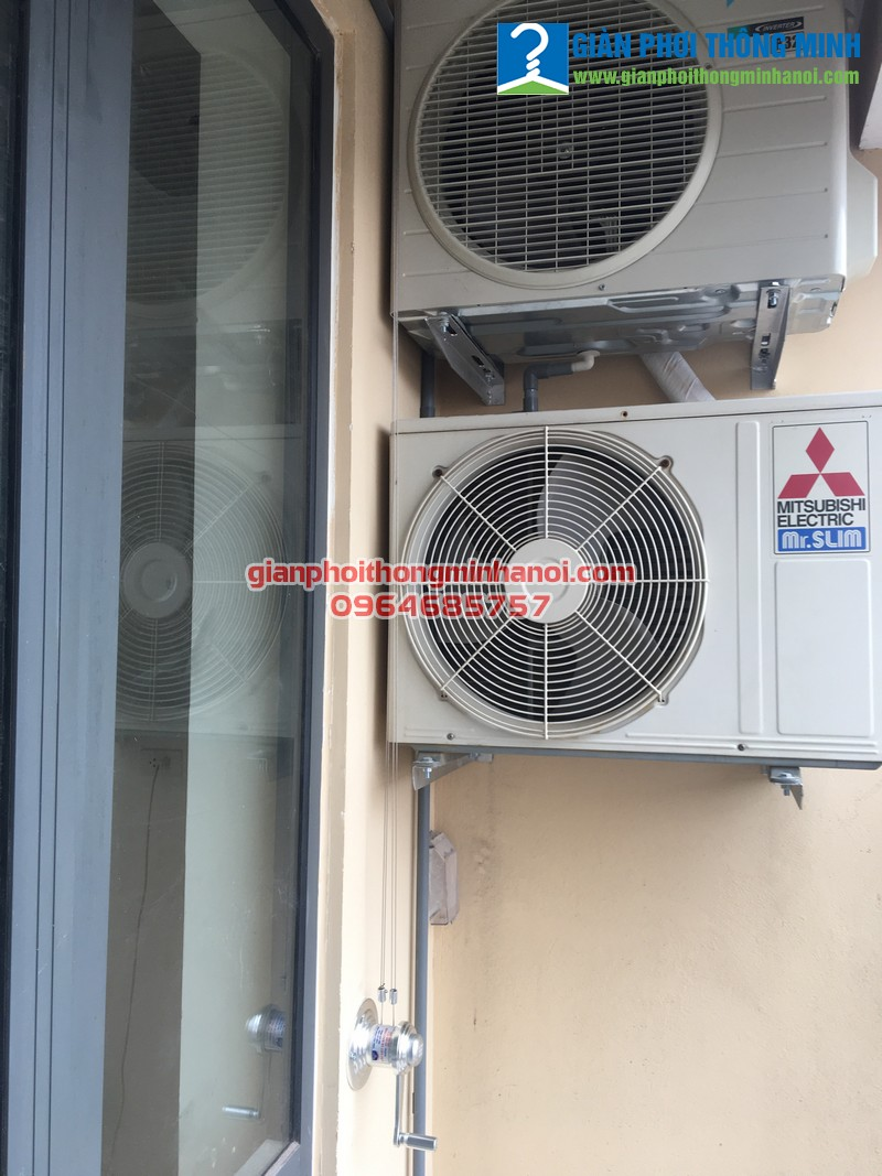 Lắp giàn phơi và bạt che nắng cho nhà chị Hảo, P511, CT36 Định Công