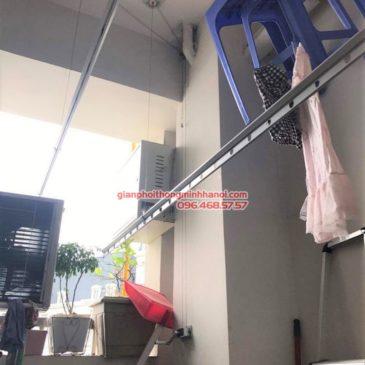 Thay dây cáp giàn phơi nhà cô Huệ, Cầu Giấy, Hà Nội