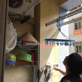 Lắp giàn phơi Hà Nội GP990 cho nhà cô Chi, chung cư Xuân Mai Tower, Hà Đông, Hà Nội