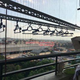 Lắp giàn phơi Hòa Phát Air cho nhà chị Hương, P814, tòa N08, KĐT Pháp Vân