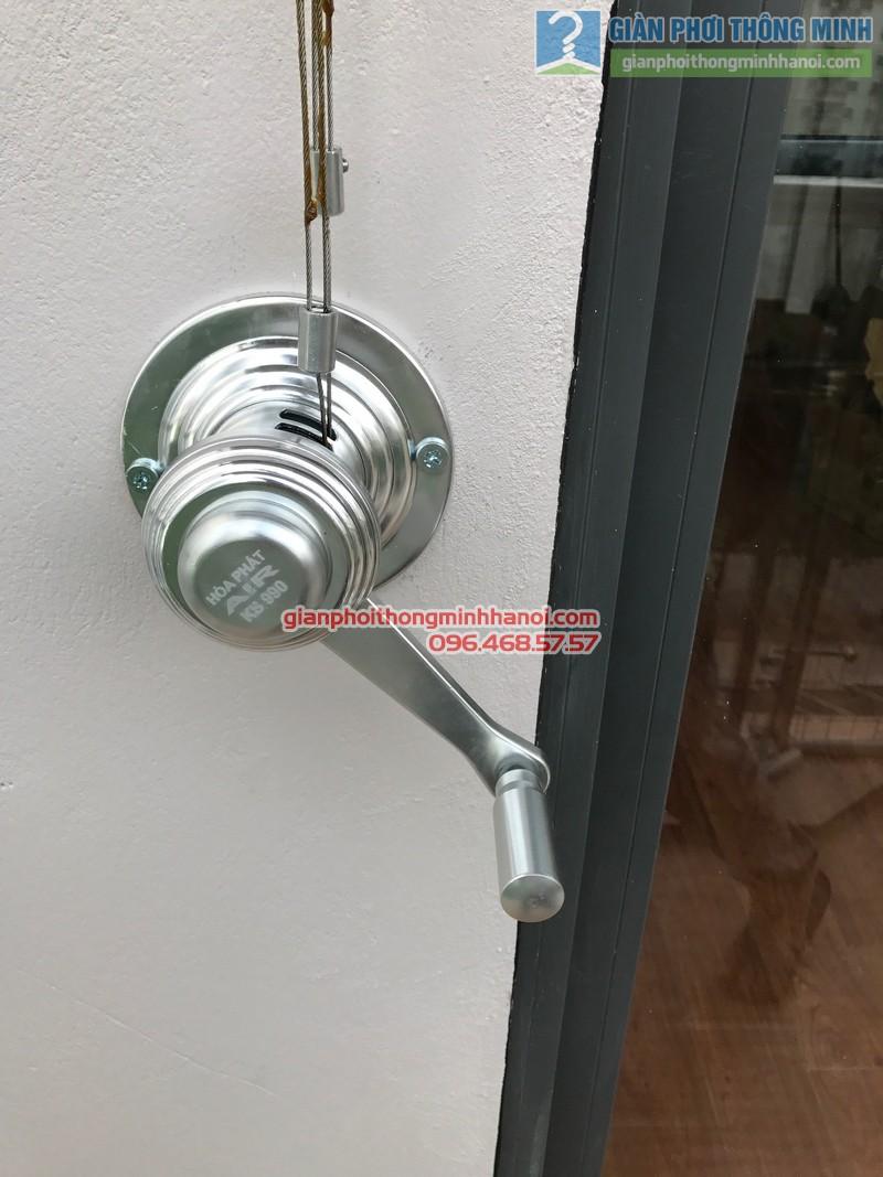 Giàn phơi Hòa Phát Air Gp990 được lắp cho nhà chị Phương, chung cư VP4 Linh Đàm, Hoàng Mai, Hà Nội - 01