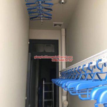 Lắp giàn phơi Hòa Phát Air cho gia đình anh Chính, P1912, CT2A, chung cư Tràng An, Cầu giấy, Hà Nội