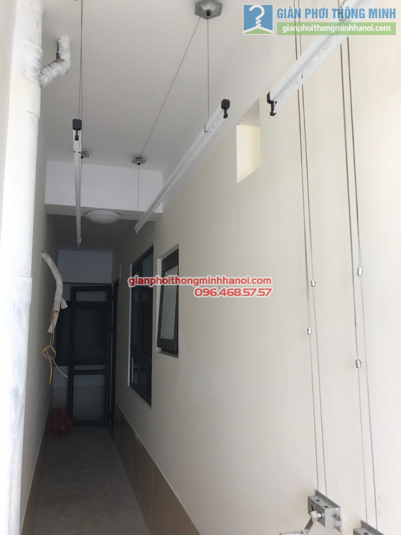 2 bộ giàn phơi Hòa Phát GP750 được lắp tại nhà anh Văn