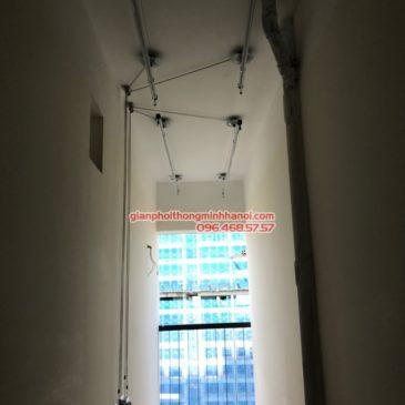 Bộ đôi giàn phơi Hòa Phát GP750 được lắp tại nhà anh Văn, chung cư lavita garden thành phố Hồ Chí Minh