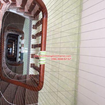 Lắp lưới an toàn cầu thang cho nhà anh Sơn, ngõ 199 Thụy Khuê, Tây Hồ, Hà Nội
