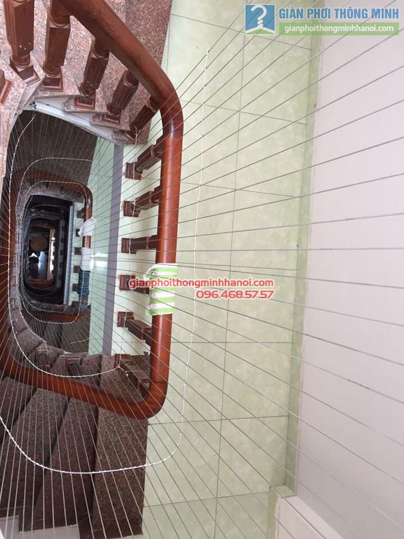 Lưới an toàn cầu thang nhà anh Sơn - 01