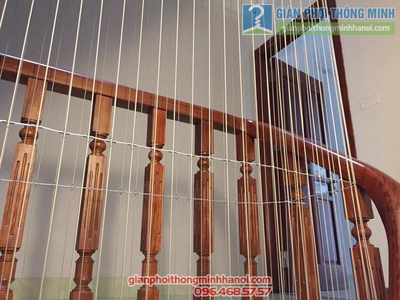 Lưới bảo vệ cầu thang nhà anh Sơn