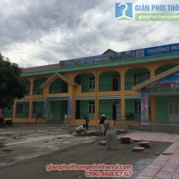 Lắp lưới an toàn cho trường mầm non Tuân Chính, xã Tuân Chính, Vĩnh Tường, Vĩnh Phúc