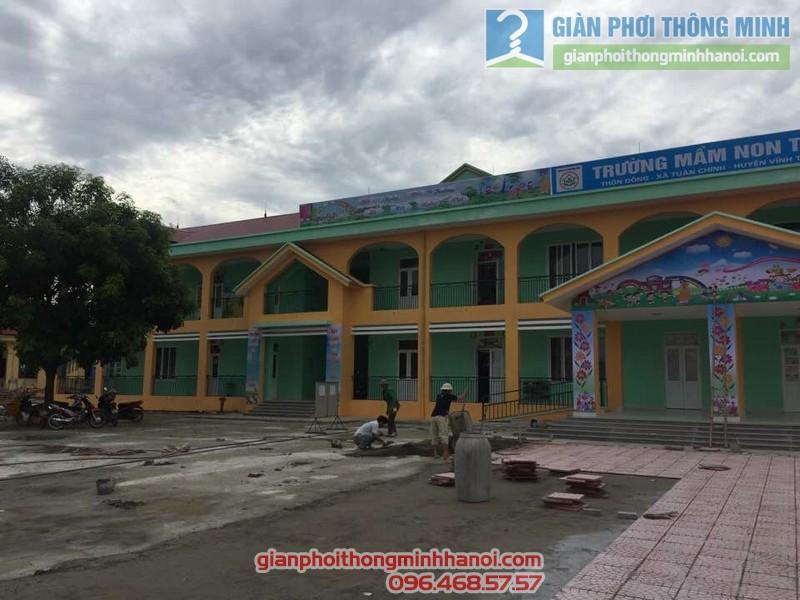 Lắp lưới an toàn trường mầm non Tuân Chính, Vĩnh Tường, Vĩnh Phúc - 05