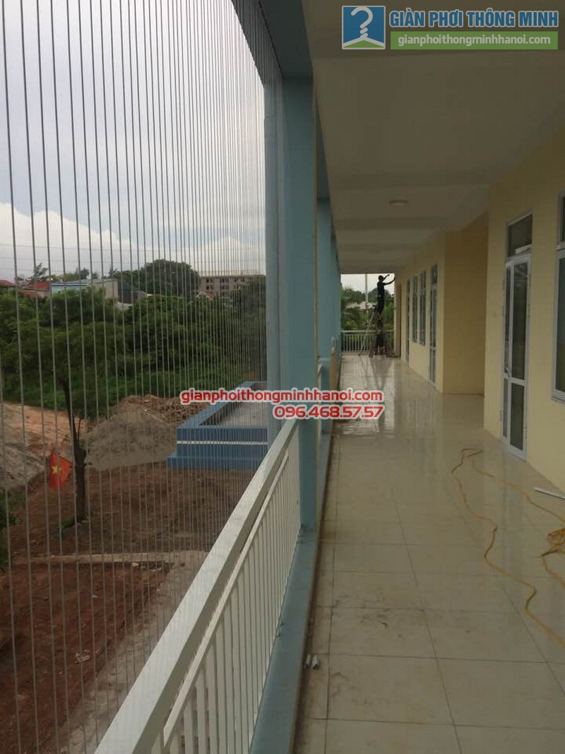 Lắp lưới an toàn cho trường tiểu học Minh Trí - 01