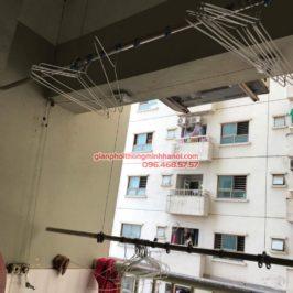 Sửa giàn phơi thông minh nhập khẩu cho nhà chị Nụ, chung cư 1B Đông Ngac, Bắc Từ Liêm, Hà Nội