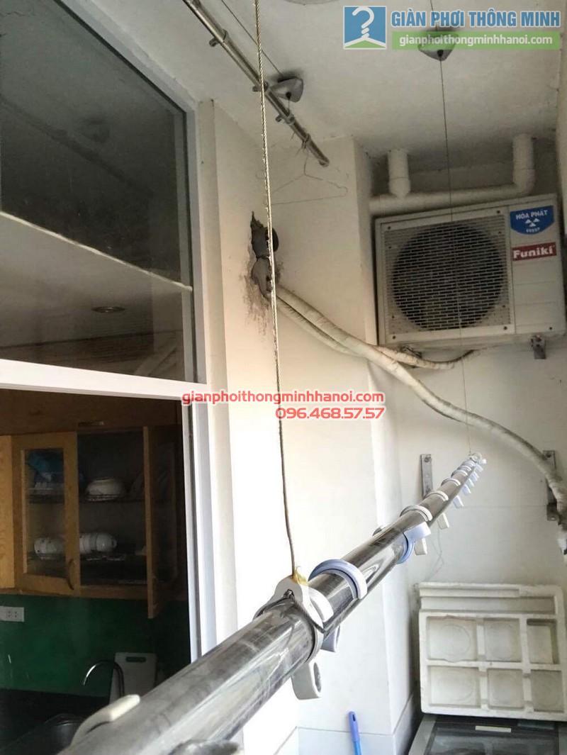 Sửa giàn phơi tại Gia Lâm nhà chị Quyên, chung cư D4, KĐT Đặng Xá - 08