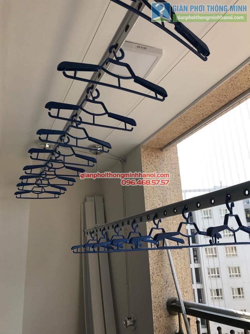 Lắp giàn phơi thông minh Hà Nội nhà anh Thành, chung cư 36 Hoàng Cầu, Đống Đa - 05