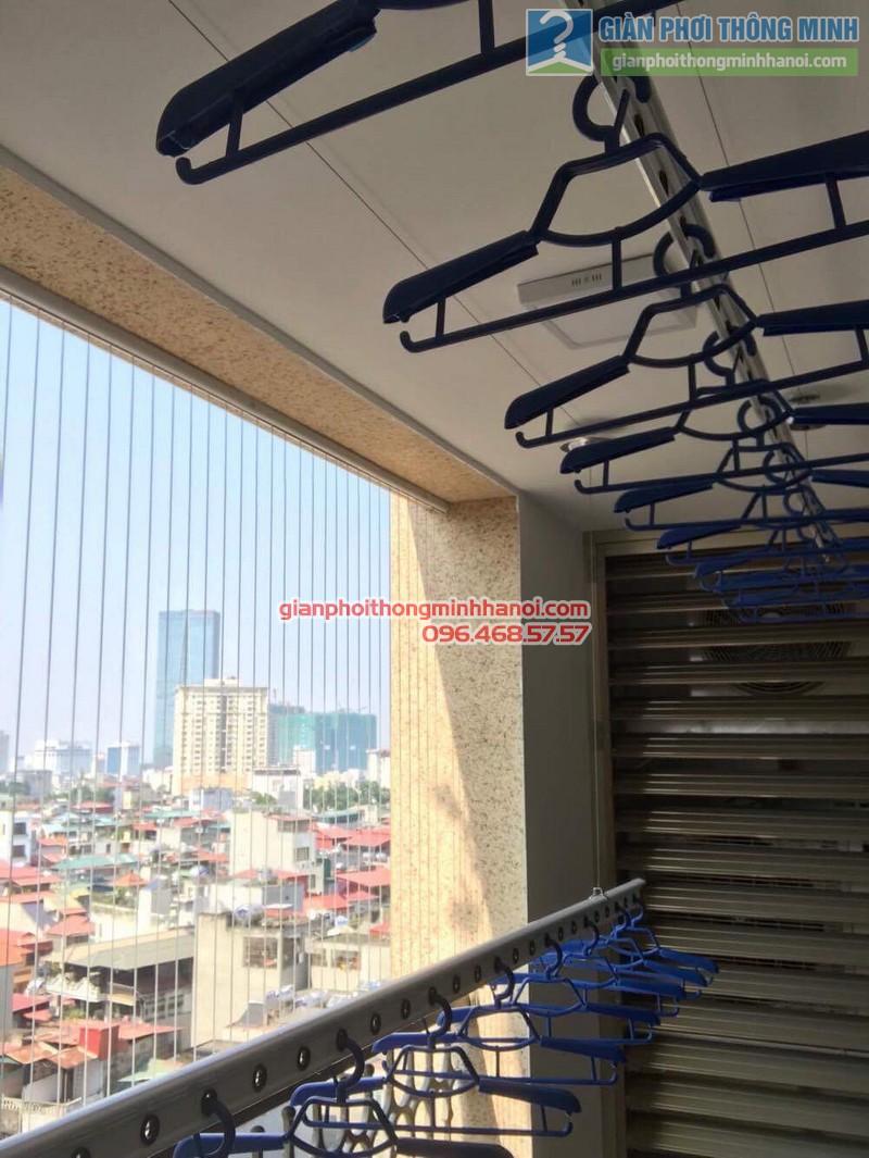 Lắp giàn phơi thông minh Hà Nội nhà anh Thành, chung cư 36 Hoàng Cầu, Đống Đa - 06
