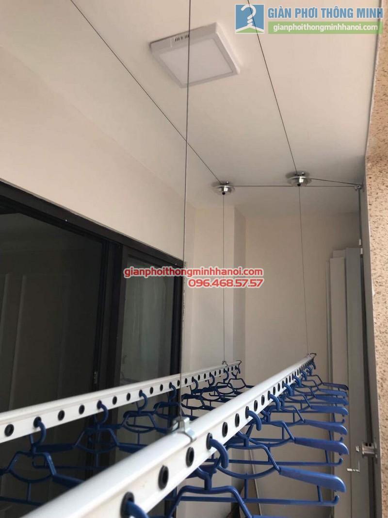 Lắp giàn phơi thông minh Hà Nội nhà anh Thành, chung cư 36 Hoàng Cầu, Đống Đa - 07