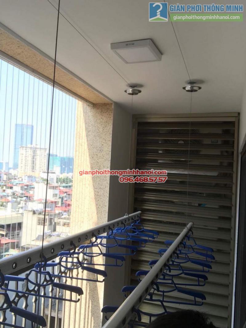 Lắp giàn phơi thông minh Hà Nội nhà anh Thành, chung cư 36 Hoàng Cầu, Đống Đa - 01