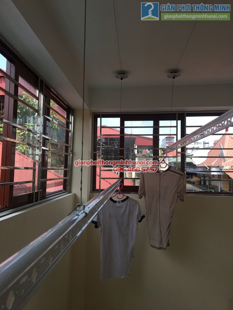 Lắp giàn phơi Hòa Phát nhà chị Bích, Ba Đình, Hà Nội - 02