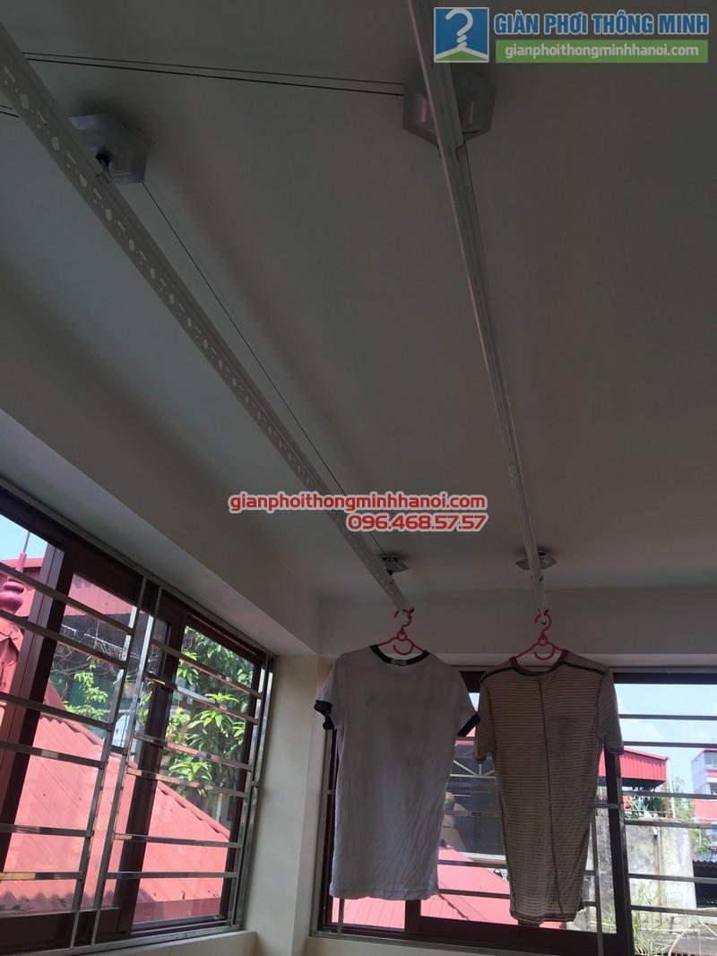 Lắp giàn phơi Hòa Phát nhà chị Bích, Ba Đình, Hà Nội - 03