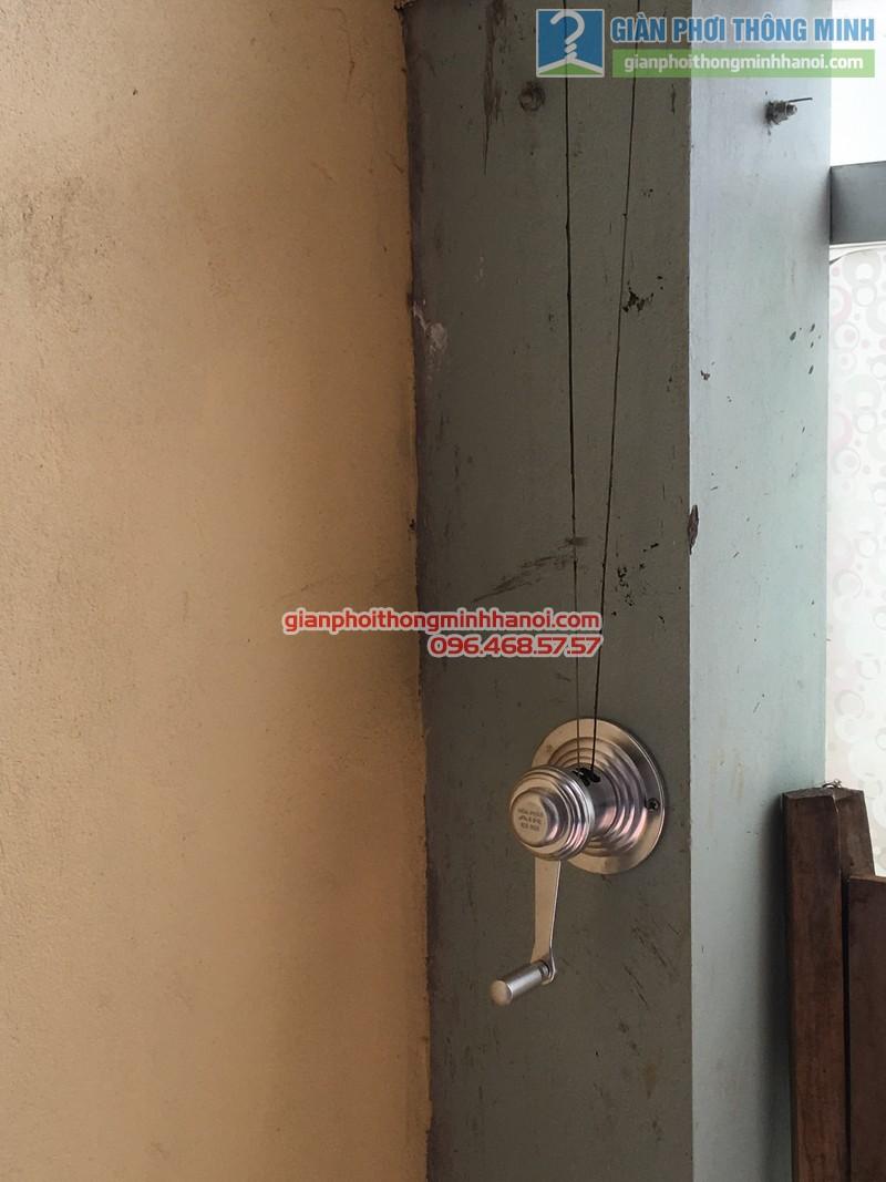 Lắp giàn phơi tại Ba Đình nhà chị Minh, ngõ 179 Đội Cấn-03