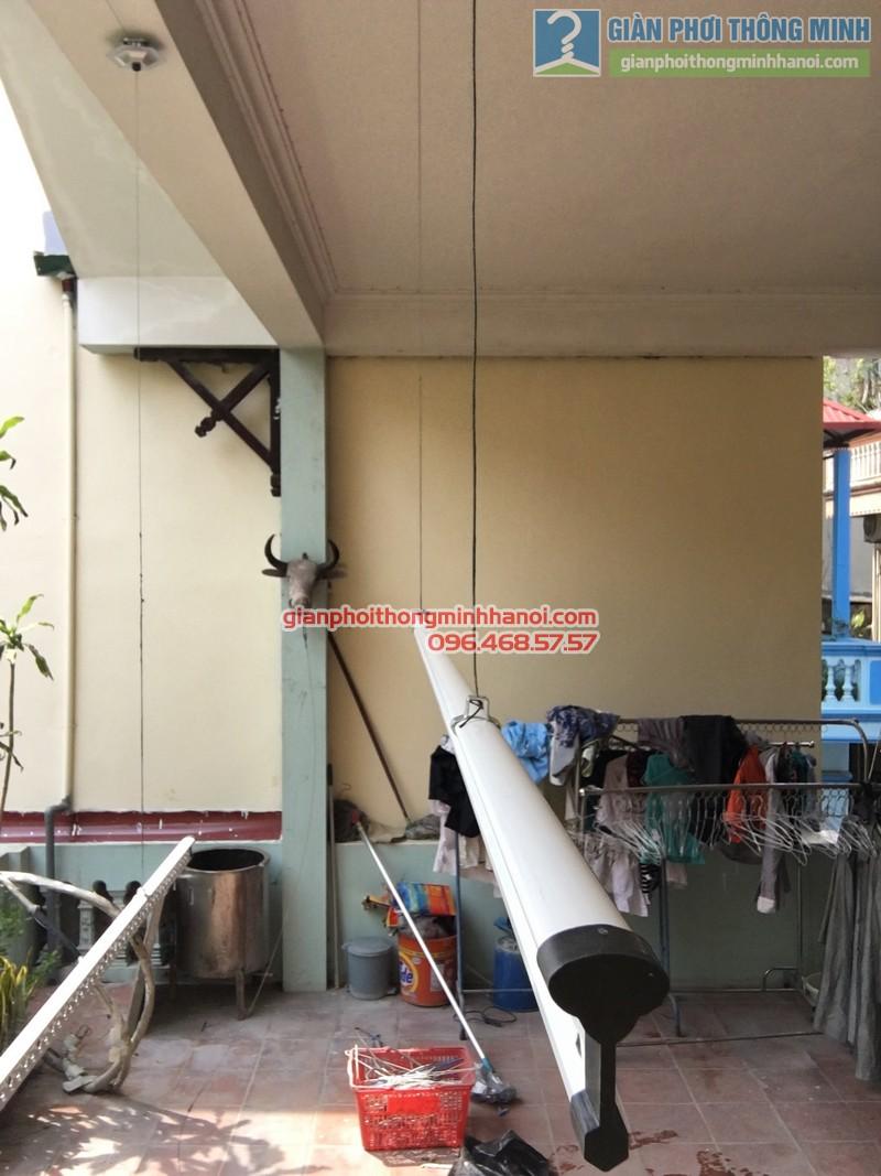 Lắp giàn phơi tại Ba Đình nhà chị Minh, ngõ 179 Đội Cấn-05
