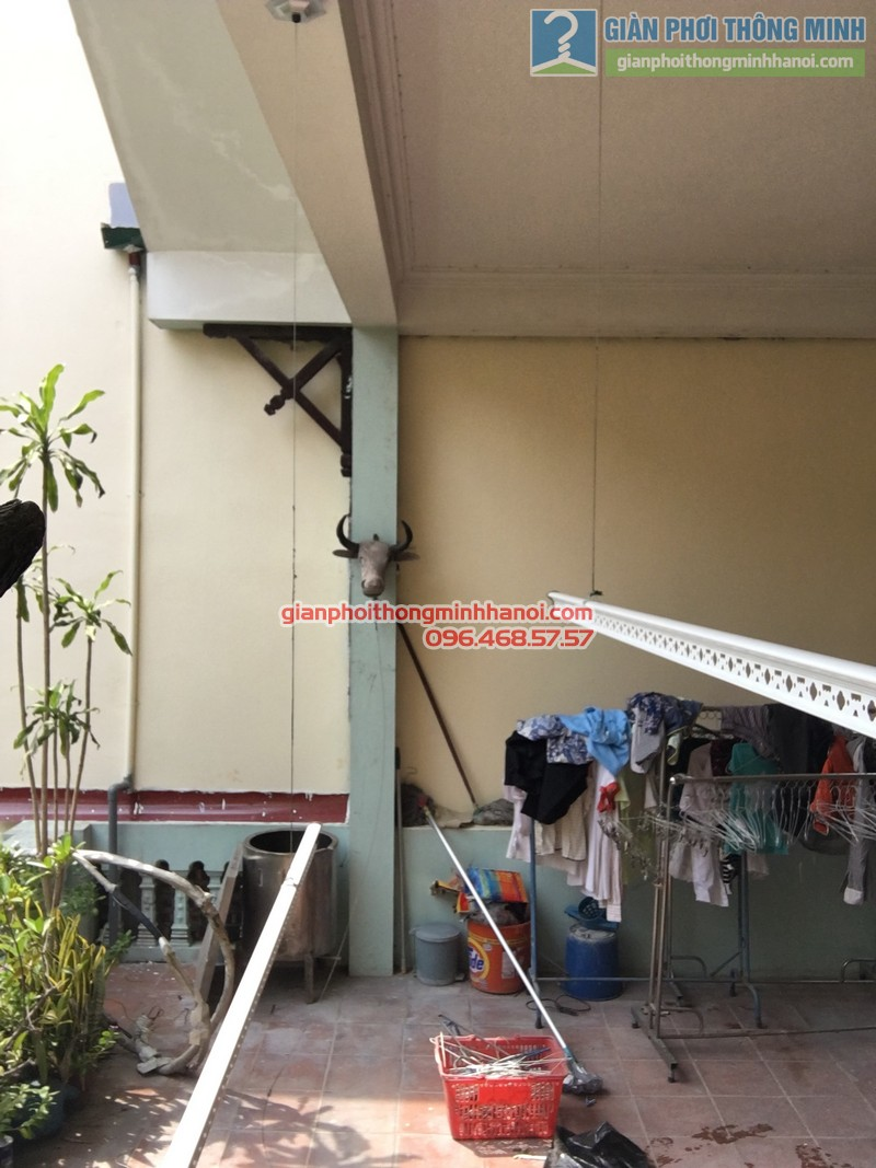Lắp giàn phơi tại Ba Đình nhà chị Minh, ngõ 179 Đội Cấn-01