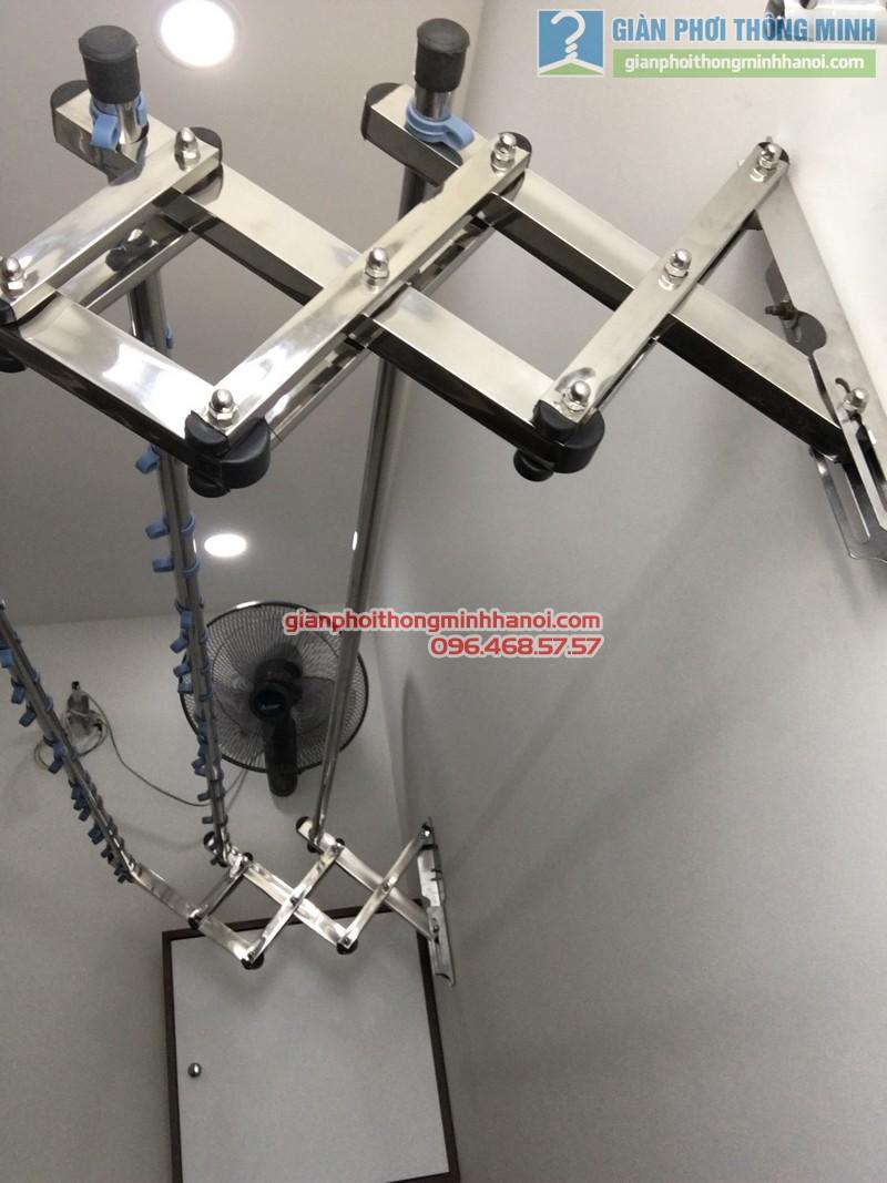 Lắp giàn phơi gắn tường cho nhà chị Đào - 05