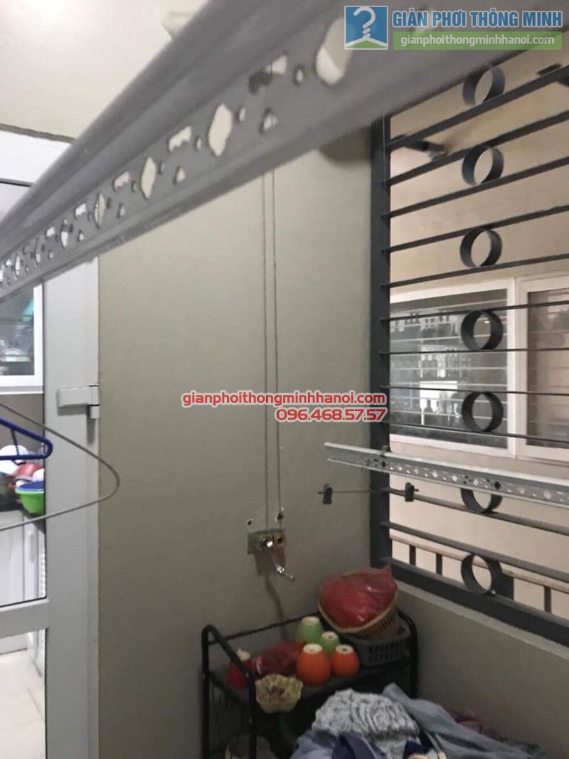 Sửa giàn phơi nhà chị Khôi, chung cư N04, Hoàng Đạo Thúy, Cầu giấy, Hà Nội - 04