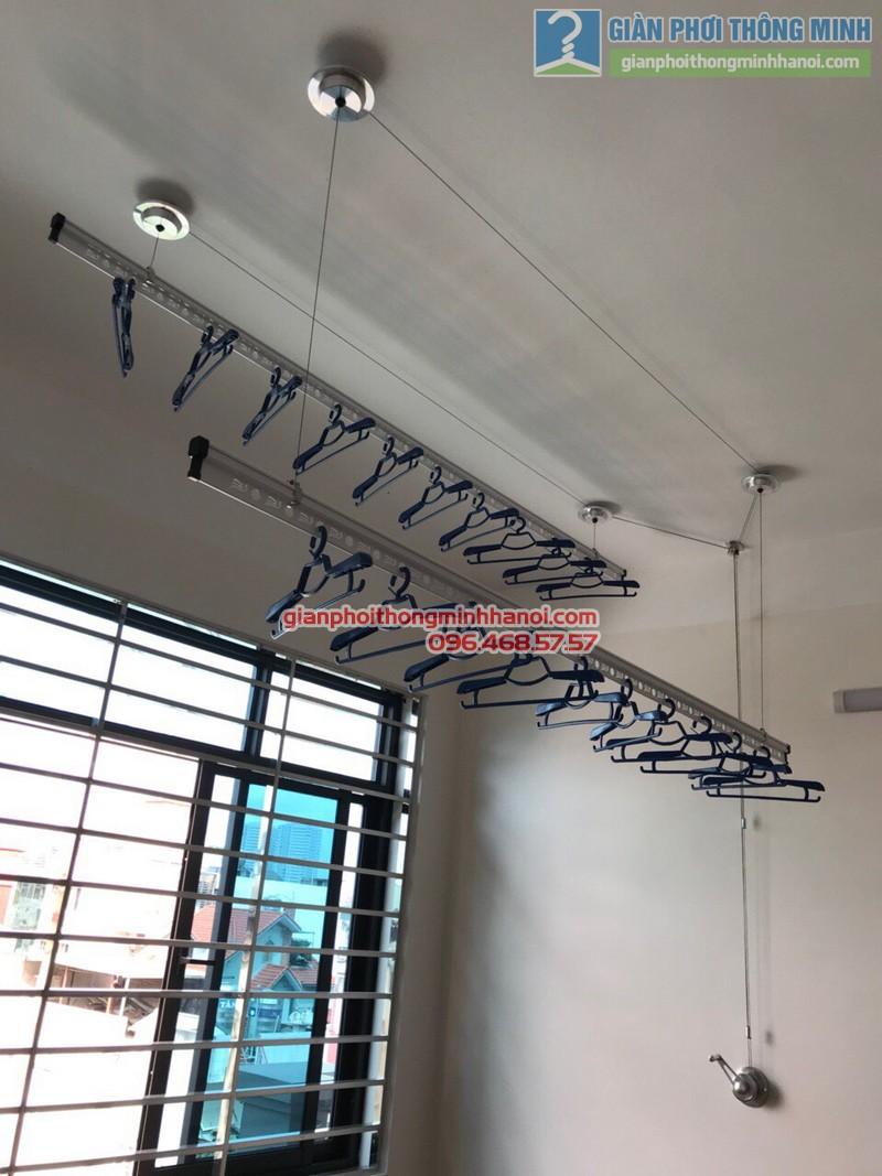 Lắp giàn phơi thông minh Ba Đình nhà chị Lý, số 23, khu 45 căn hộ, 462 Đường Bưởi - 04