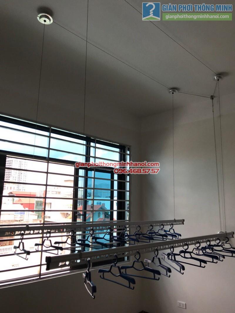 Lắp giàn phơi thông minh Ba Đình nhà chị Lý, số 23, khu 45 căn hộ, 462 Đường Bưởi - 08