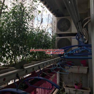 Thay dây cáp giàn phơi thông minh nhà cô Huệ, P1308, Chung cư A1, Nguyễn Cơ Thạch, Nam Từ Liêm, Hà Nội
