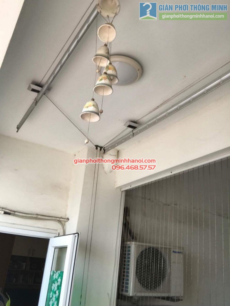 Sửa giàn phơi giá rẻ cho gia đình anh Hữu, Cầu Giấy, Hà Nội - 01